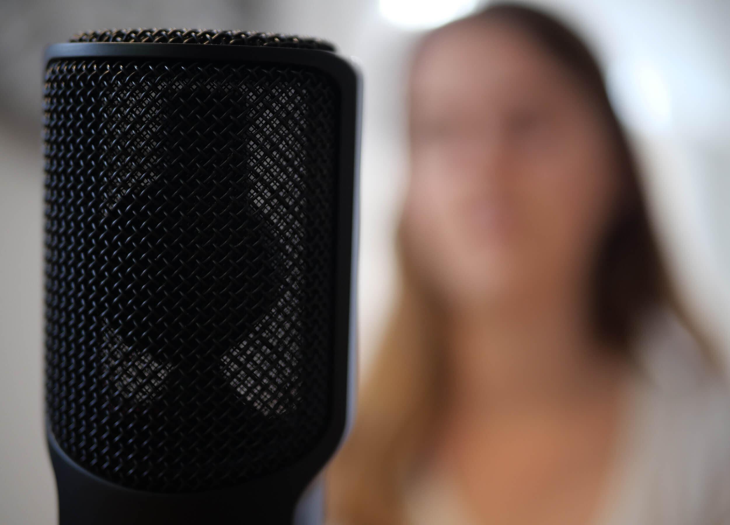 Mikrofon mit Seraina